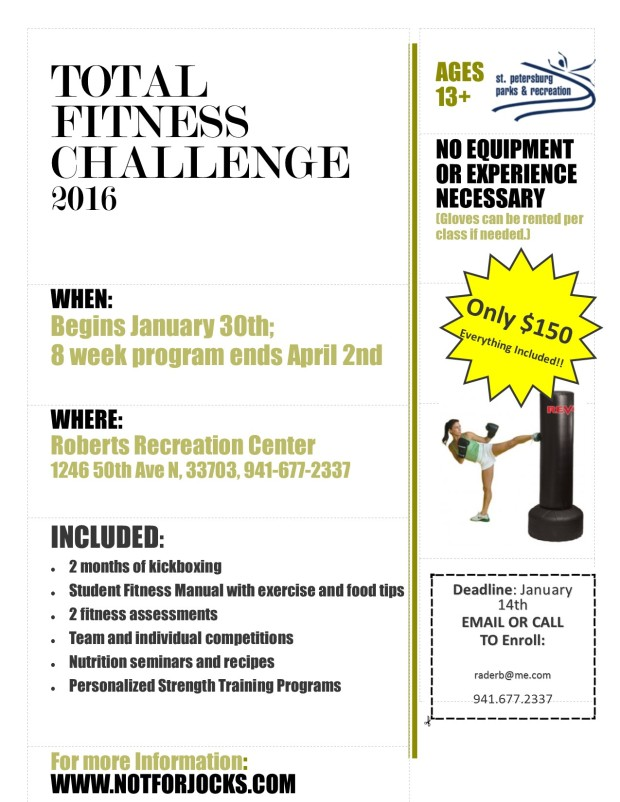 Total Fitness Challenge flyer